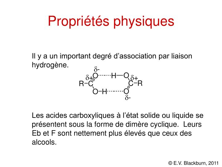 Propriétés physiques