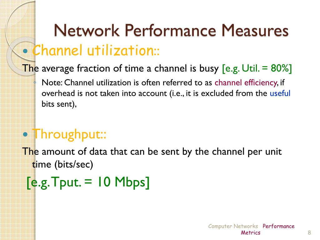 PPT - Computer Networks Performance Metrics PowerPoint