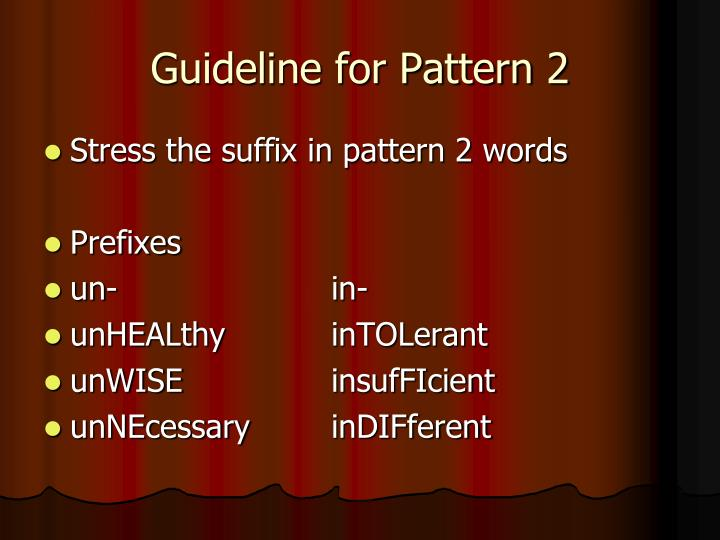 Guideline for Pattern 2