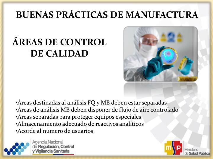Ppt buenas practicas de manufactura analista zonal de for Practica de oficina definicion