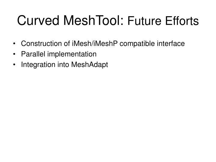 Curved MeshTool:
