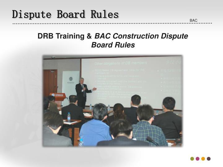 Dispute Board Rules