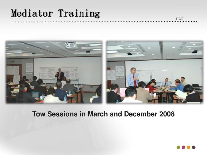 Mediator Training