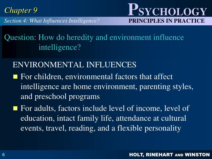 factors affecting intelligence in psychology