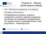 priorytet iii wysoka jako systemu o wiaty10