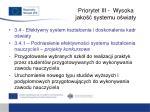 priorytet iii wysoka jako systemu o wiaty6