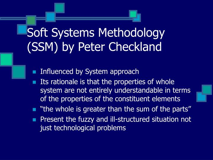 Dissertation using soft systems by checkland