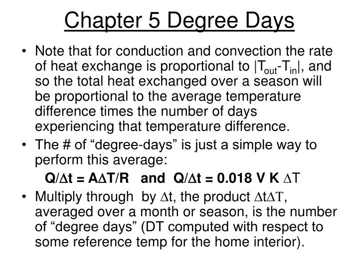 Chapter 5 Degree Days