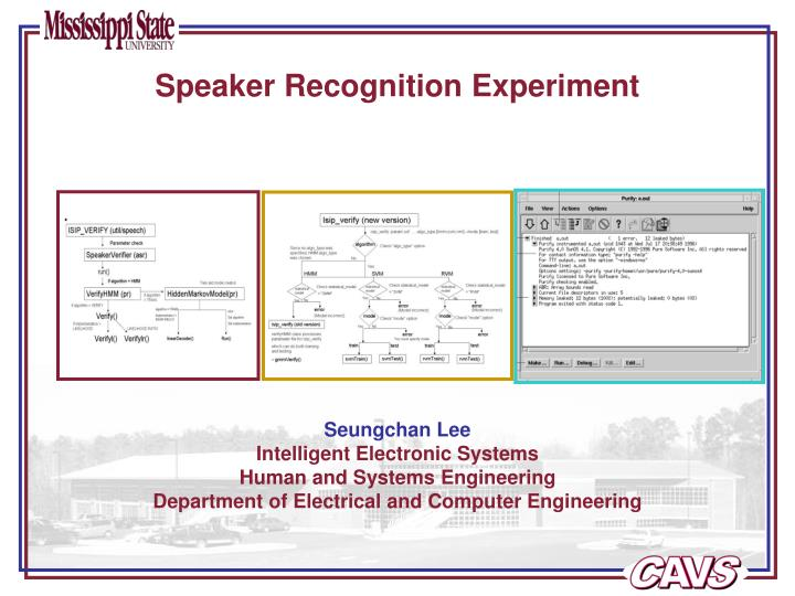 Speaker recognition experiment