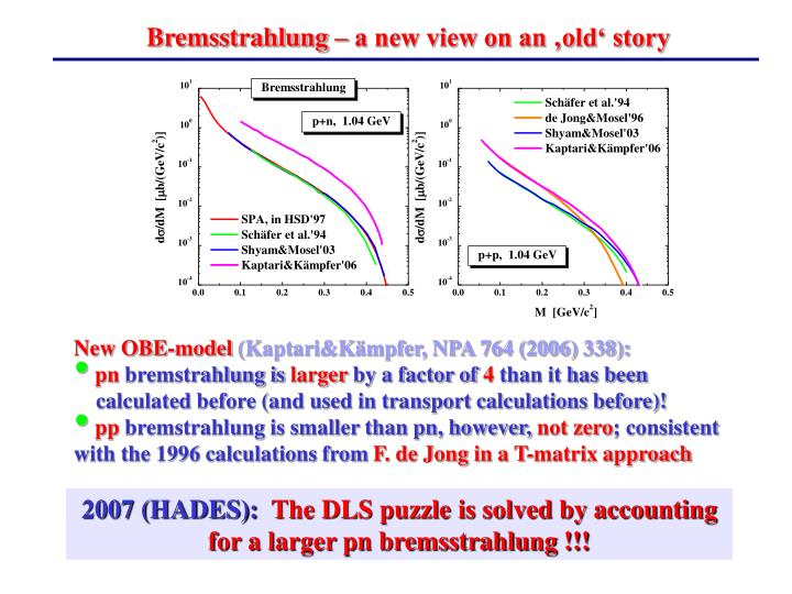 Bremsstrahlung – a new view on an 'old' story