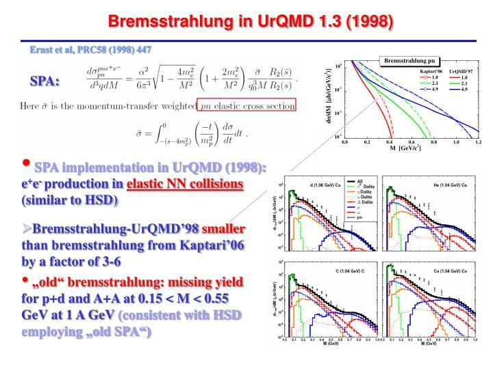 Ernst et al, PRC58 (1998) 447