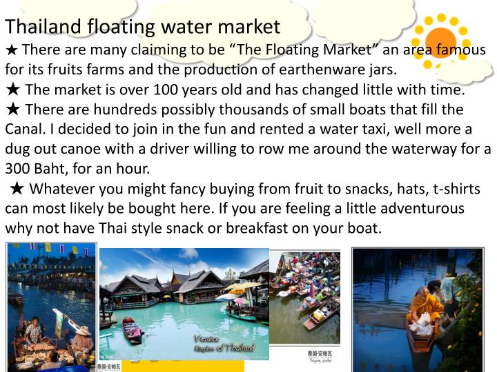 Thailand floating water market