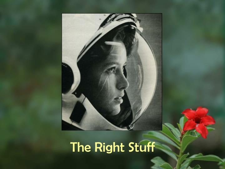 the right stuff n.