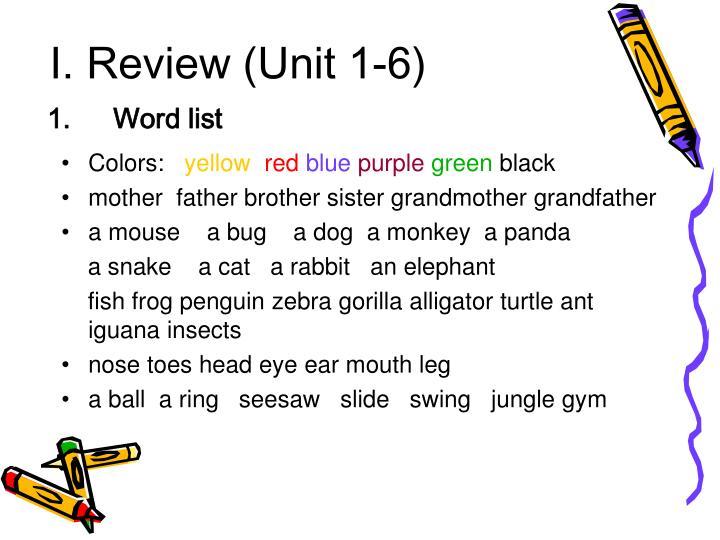 I review unit 1 61