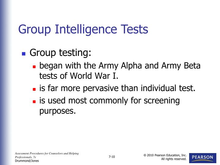 most widely used intelligence test