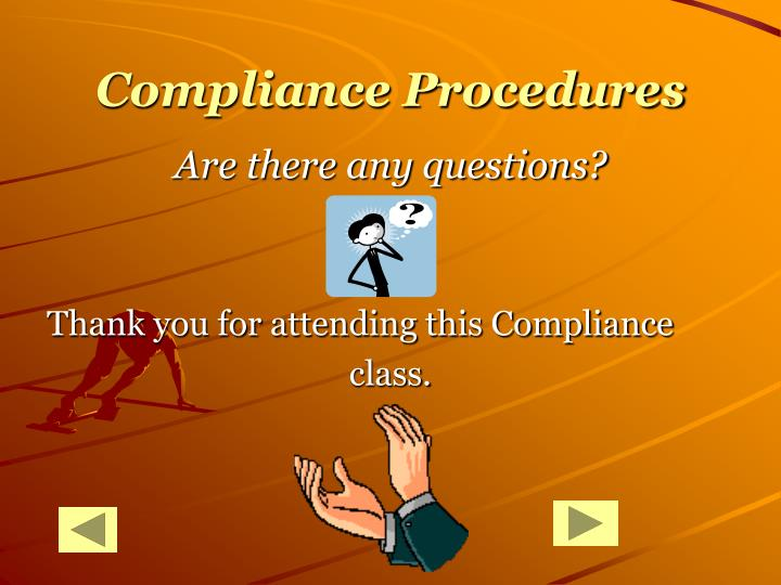 Compliance Procedures