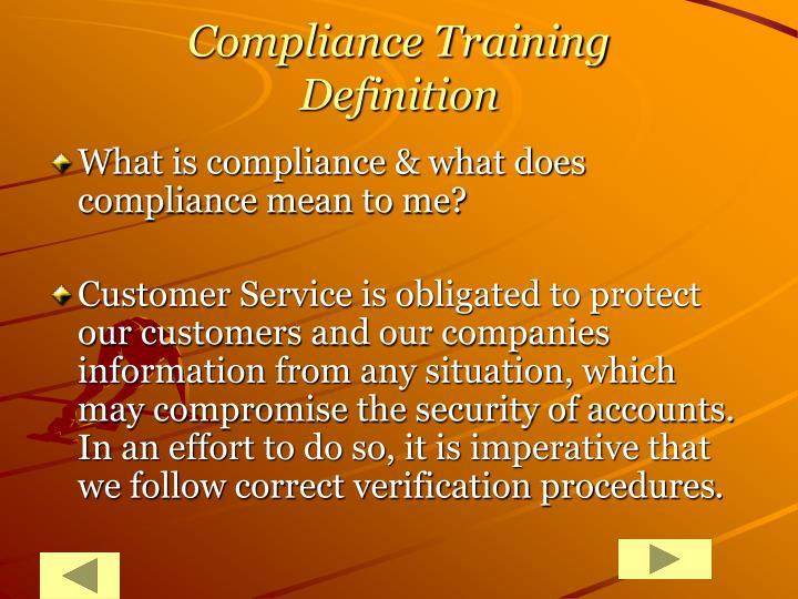 Compliance Training