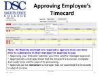 approving employee s timecard