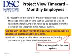 project view timecard monthly employees