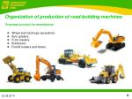 organization of production of road building machines