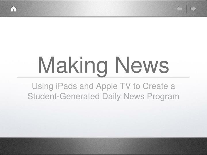 making news n.