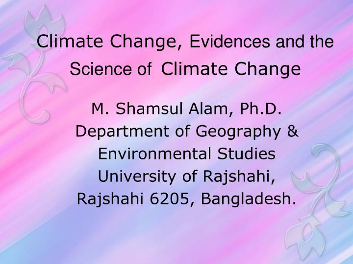 climate change evidences and the science of climate change n.