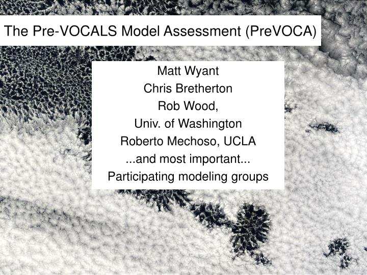 the pre vocals model assessment prevoca n.