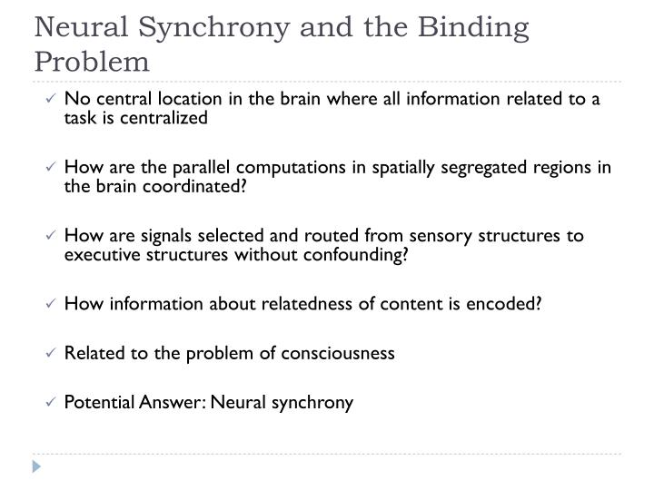 Neural Synchrony and the Binding Problem