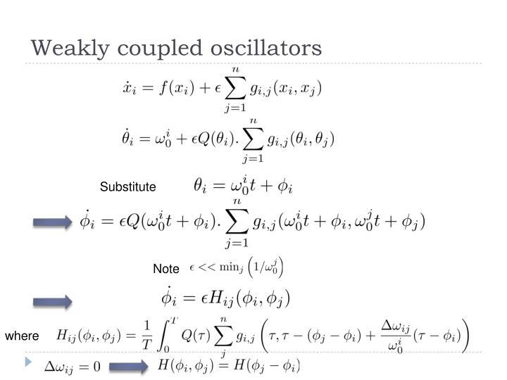 Weakly coupled oscillators