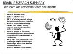 brain research summary we learn and remember after one month