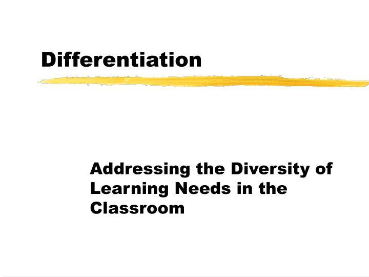 differentiation n.