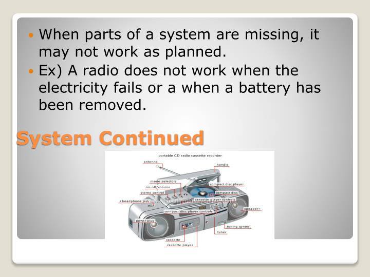 When parts of a system are missing, it may not work as planned.