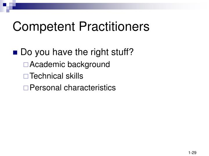 Competent Practitioners