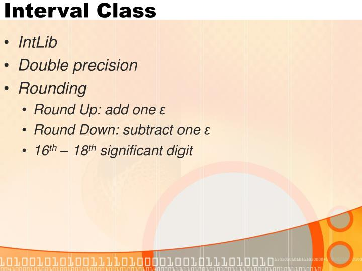 Interval Class