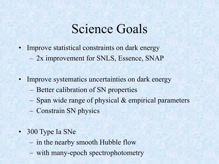 Science Goals