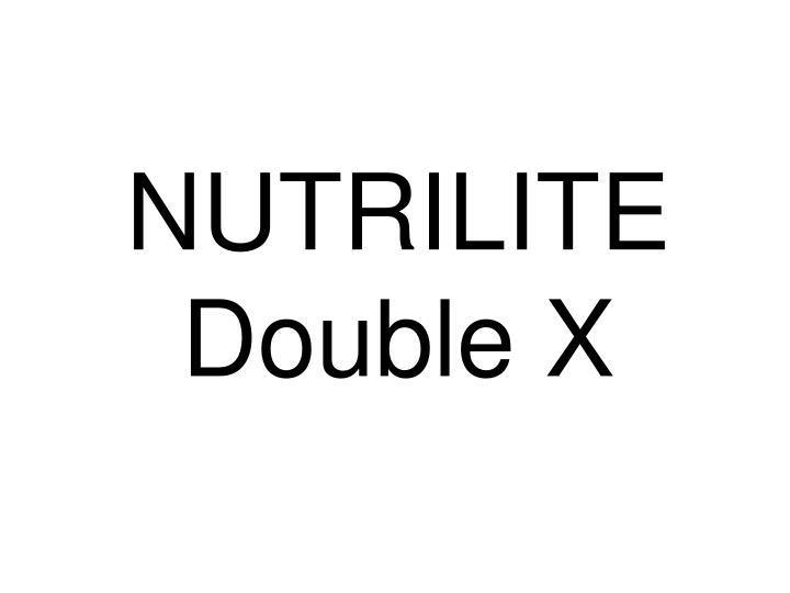 nutrilite double x n.