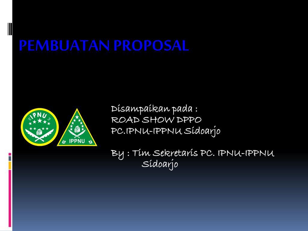 Ppt Pembuatan Proposal Powerpoint Presentation Id 3475778
