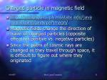charged particle in magnetic field