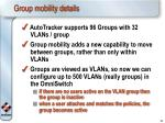 group mobility details