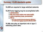 summary vlan standards update