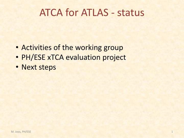 atca for atlas status n.