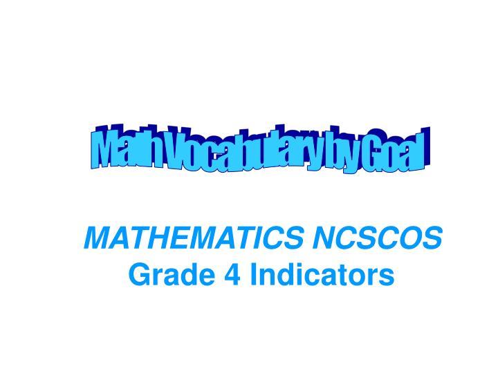 mathematics ncscos grade 4 indicators n.