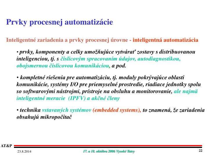 Prvky procesnej automatizácie