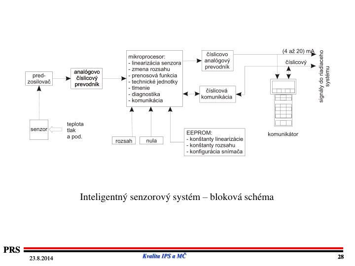 Inteligentný senzorový systém – bloková schéma