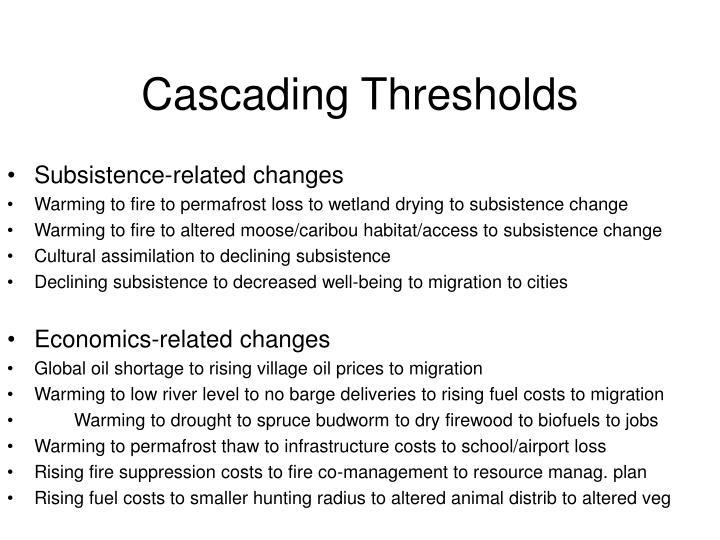 cascading thresholds n.