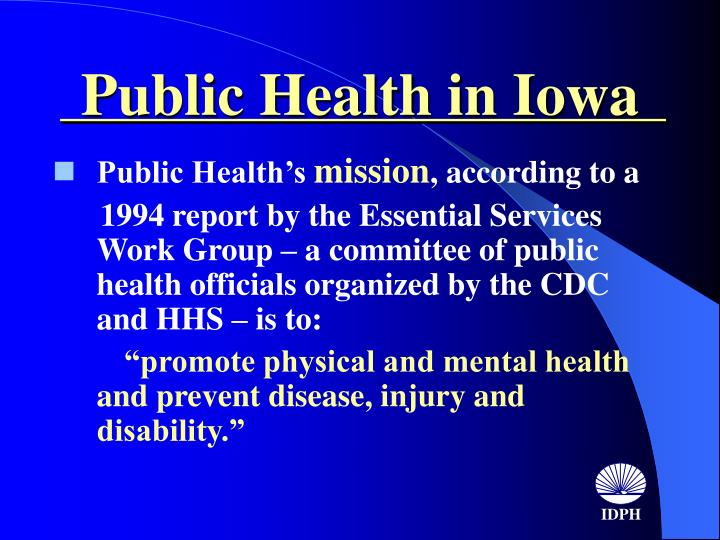 Public health in iowa2