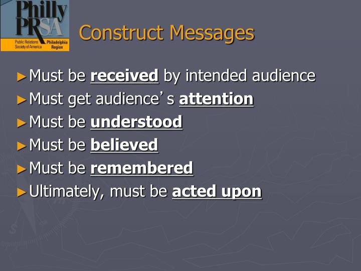 Construct Messages