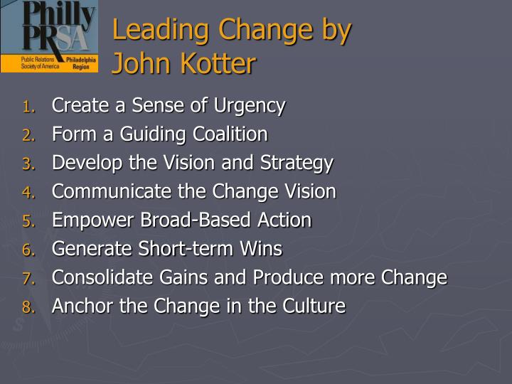 Leading Change by