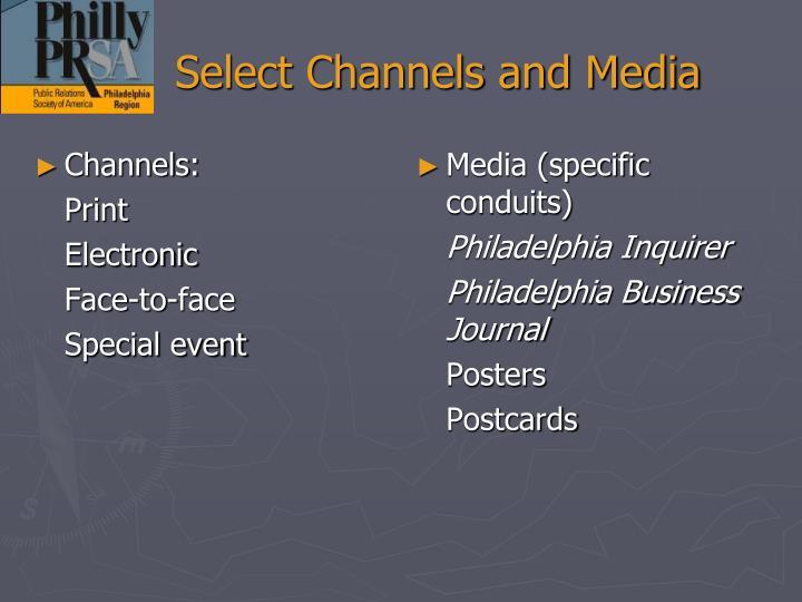 Channels: