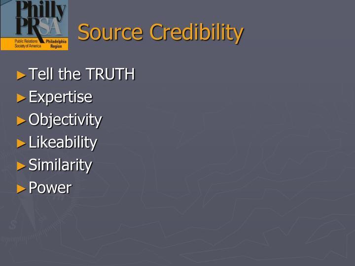 Source Credibility